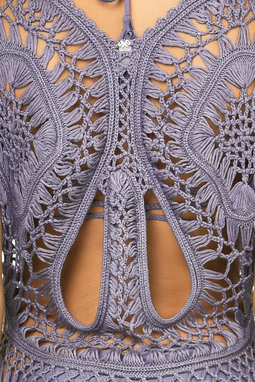 Amethyst Crochet Tunic DETAIL