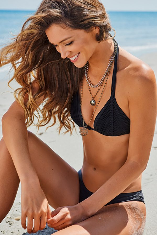 Midnight Isla Tri Top Basic Bottom Bikini LIF