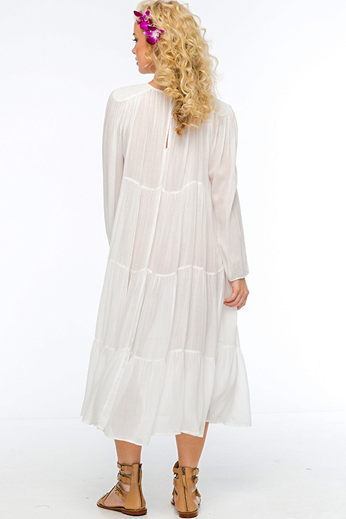 Belladonna Tiered Tea Length Dress BACK