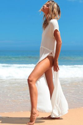 Noveau Coverup in Solid White LIF