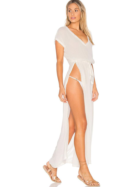 Noveau Coverup in Solid White SIDE