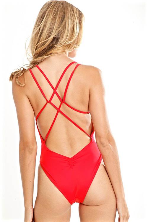 Red Flirt Isla Bodysuit ALT