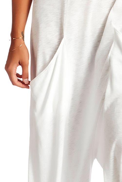 Gemini Jumpsuit EcoCotton White ALT DETAIL