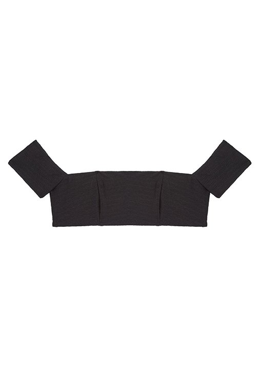 Havana Crop Top Black EcoLux FLAT