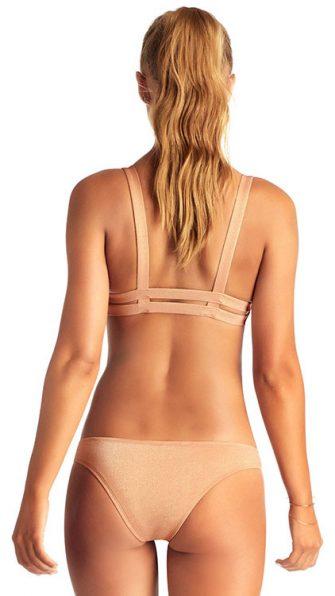 Rose Gold Metallic Neutra Bralette Hipster Bikini ALT