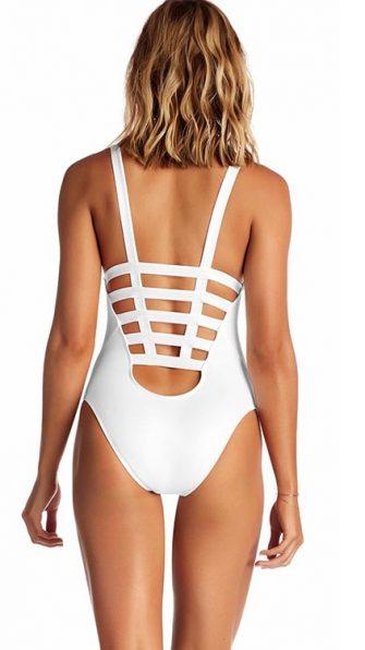 White Ecolux Neutra Maillot Bodysuit ALT