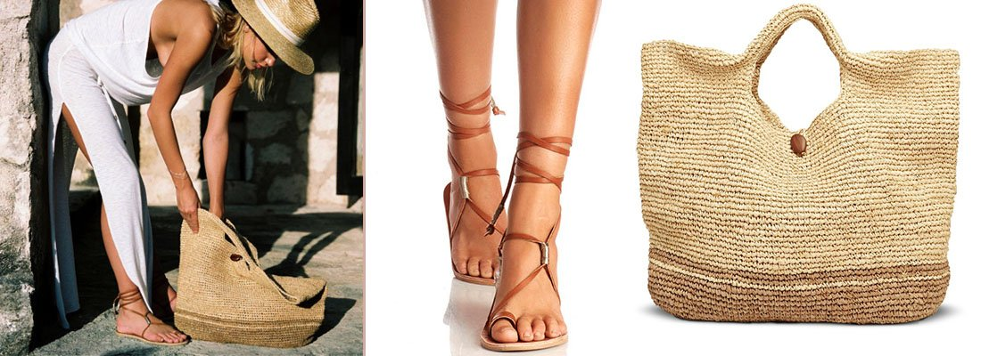 Bluebird Sandals and Tash Tote