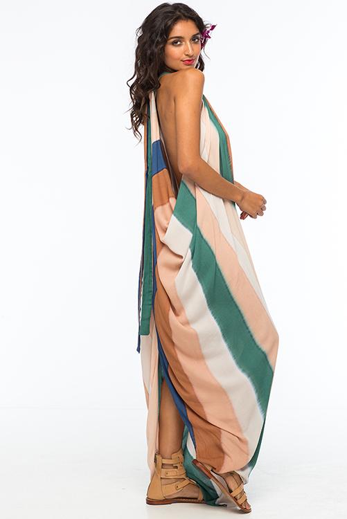 Beach Stripe Nammos Kaftan Dress ALT