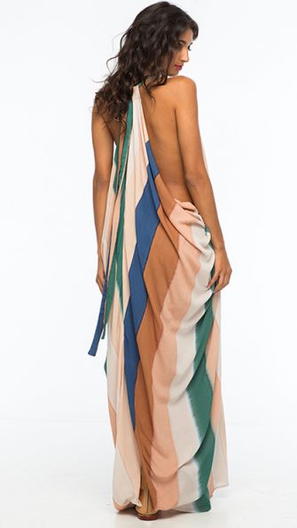Beach Stripe Nammos Kaftan Dress ALT3