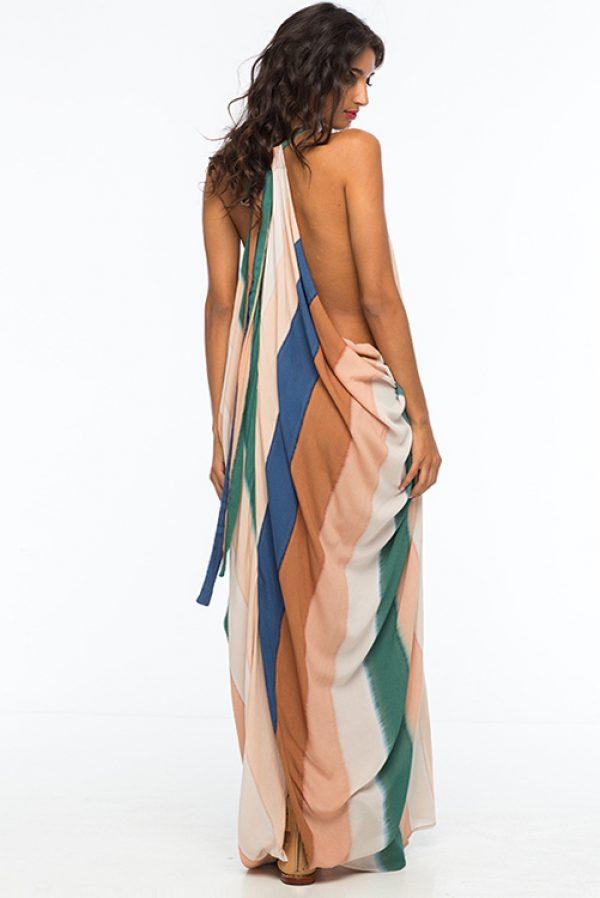 Beach Stripe Nammos Kaftan Dress ALT3