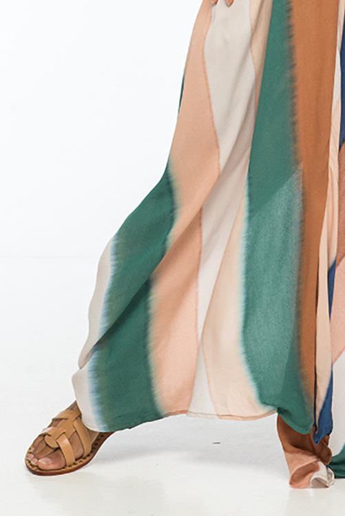 Beach Stripe Nammos Kaftan Dress DETAIL2