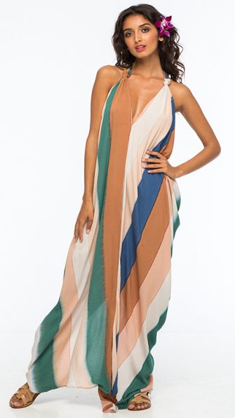 Beach Stripe Nammos Kaftan Dress