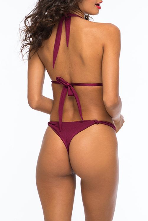 Bordeaux Falco Amadeus Solid Knot Bikini ALT