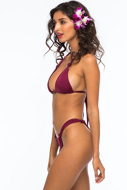 Bordeaux Falco Amadeus Solid Knot Bikini ALT2