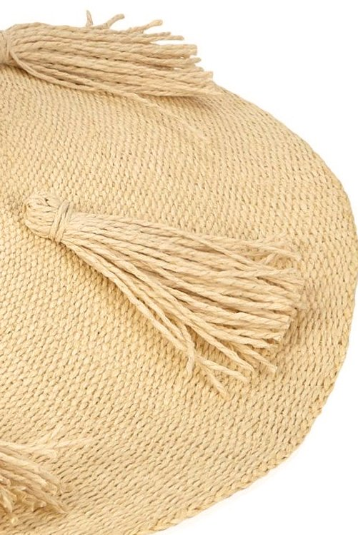 Natural Beach Weekend Hat DETAIL