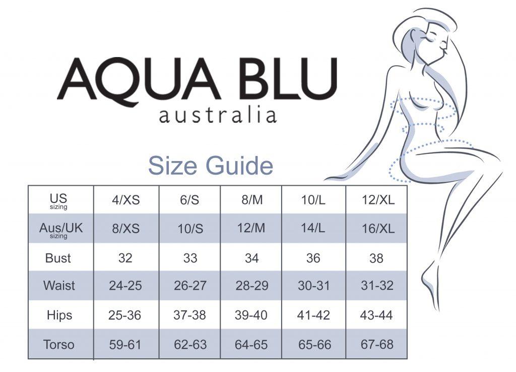Aqua Blu Size Guide