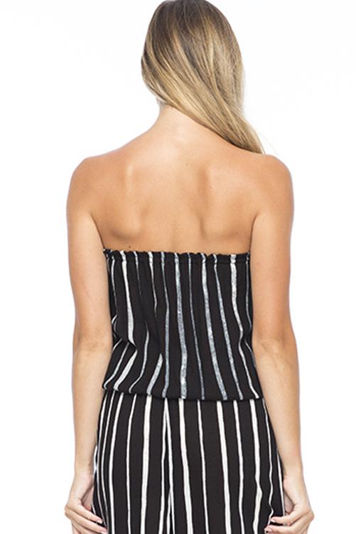 Black Stripe Gemma Tube Top ALT2