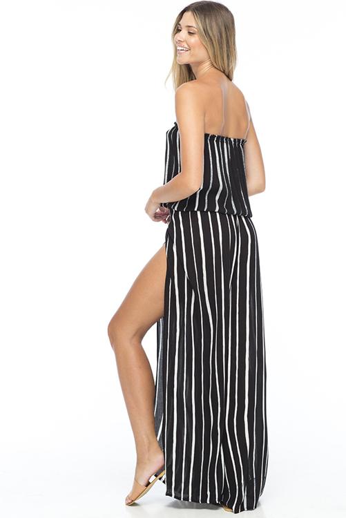 Black Stripe Gemma Tube Top Eclipse Pant ALT