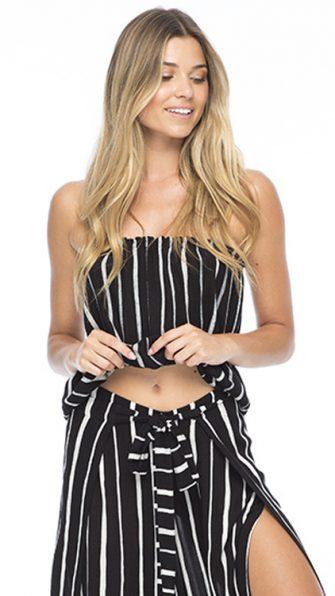 Black Stripe Gemma Tube Top