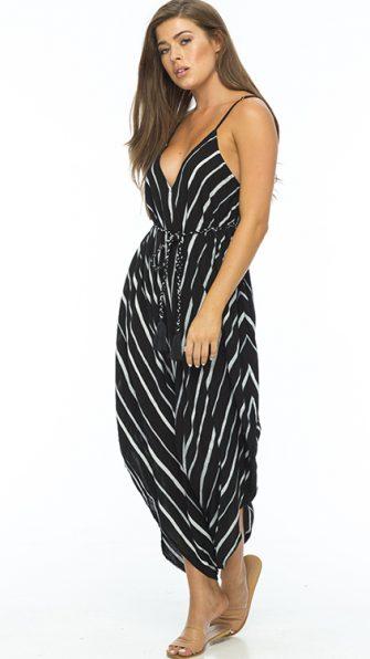 Black Stripe Ivory Jumpsuit