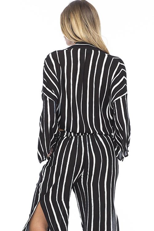 Black Stripe Kumala Kimono ALT