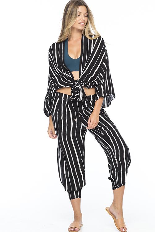 Black Stripe Kumala Kimono ALT2