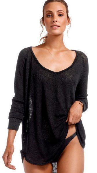 Black Drifter Beach Sweater
