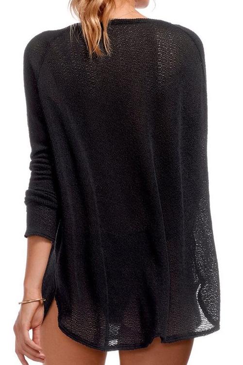 Black Drifter Beach Sweater ALT