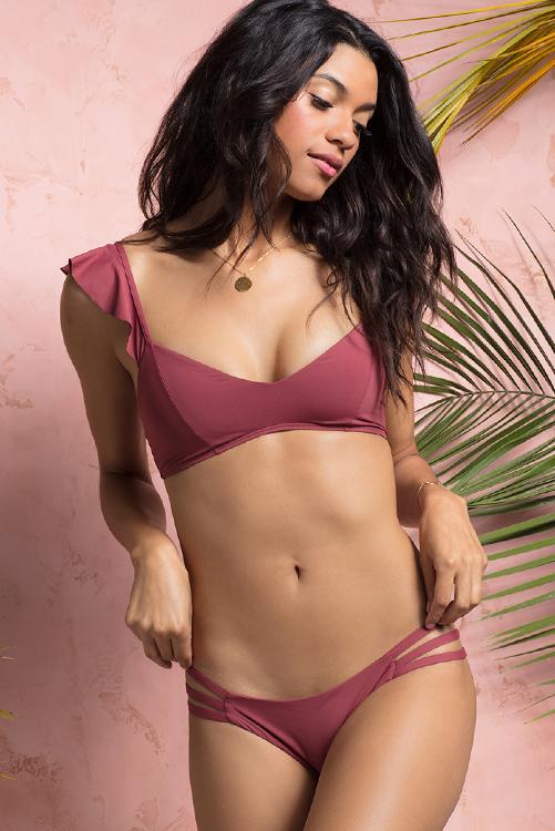 Currant Harper Bikini Top Rose Bottom Bikini LIF