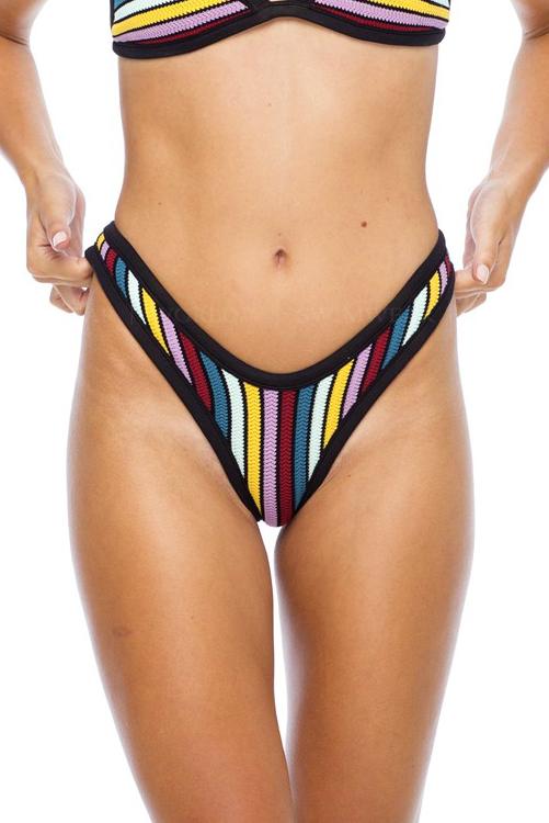 Rio Stripe Shout Bikini Bottom ALT4