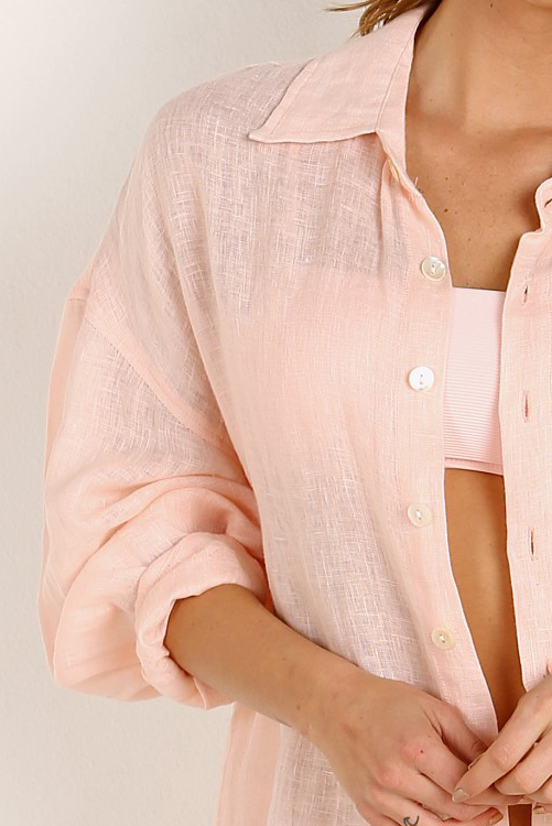 Perla Rosa Playa Shirt Dress DETAIL