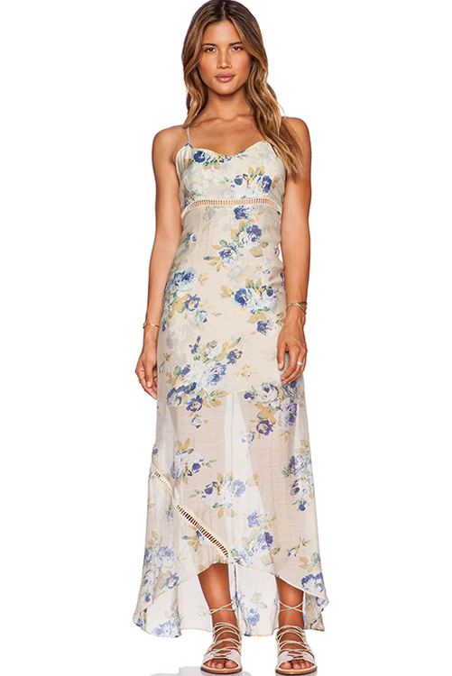 Misty Floral Maxi Dress