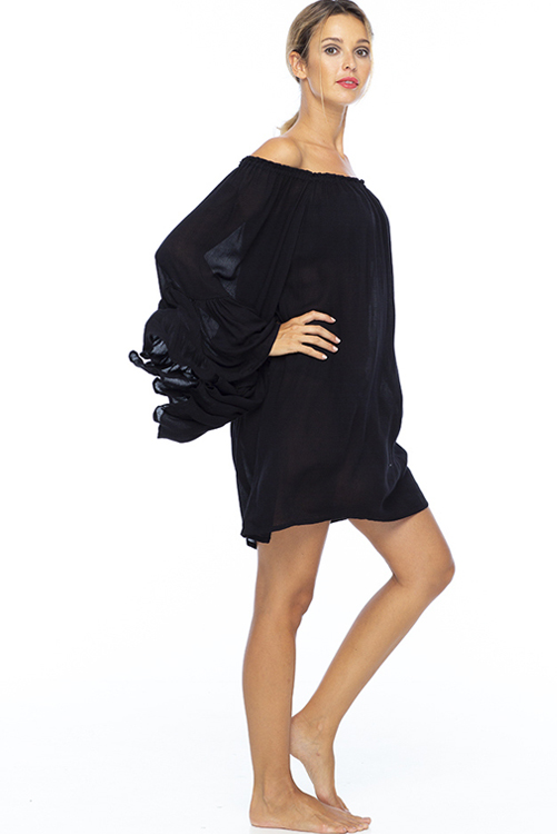 Black Kamani Ruffle Dress 2