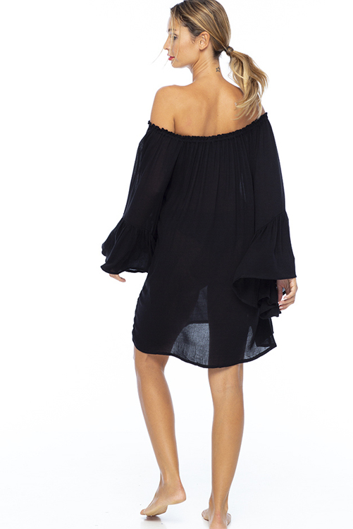 Black Kamani Ruffle Dress 3