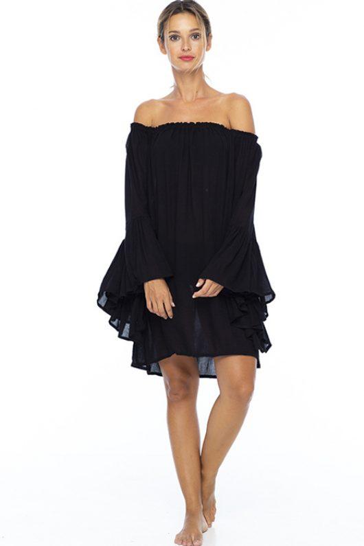 Black Kamani Ruffle Dress 4
