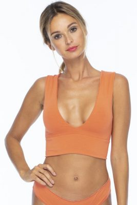Salmon Meringue Deep U Band Top