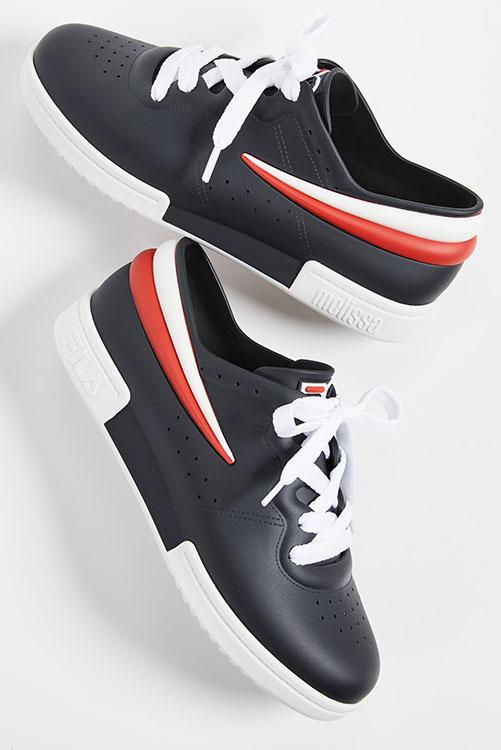 Melissa + Fila Sneaker Black White_2