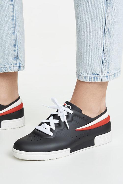 Melissa + Fila Sneaker Black White_3