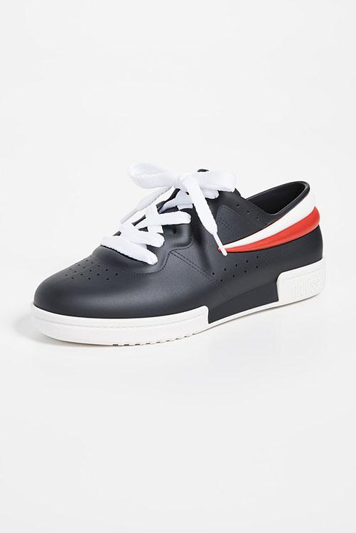 Melissa + Fila Sneaker Black White_5
