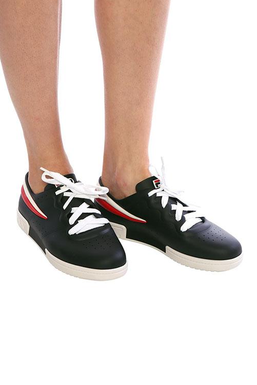 Melissa + Fila Sneaker Black White_6