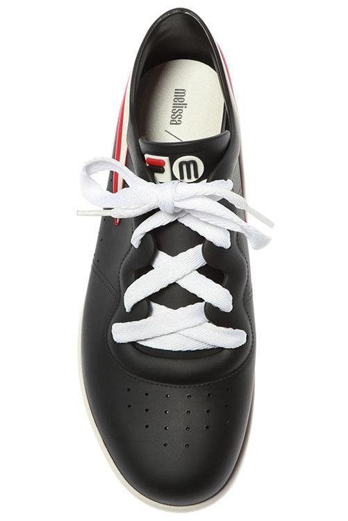 Melissa + Fila Sneaker Black White_7