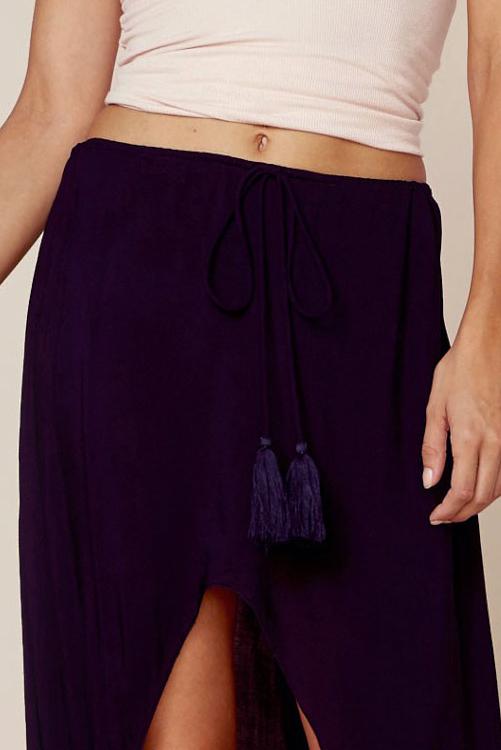 Black Barefoot Hi-Low Skirt DETAIL